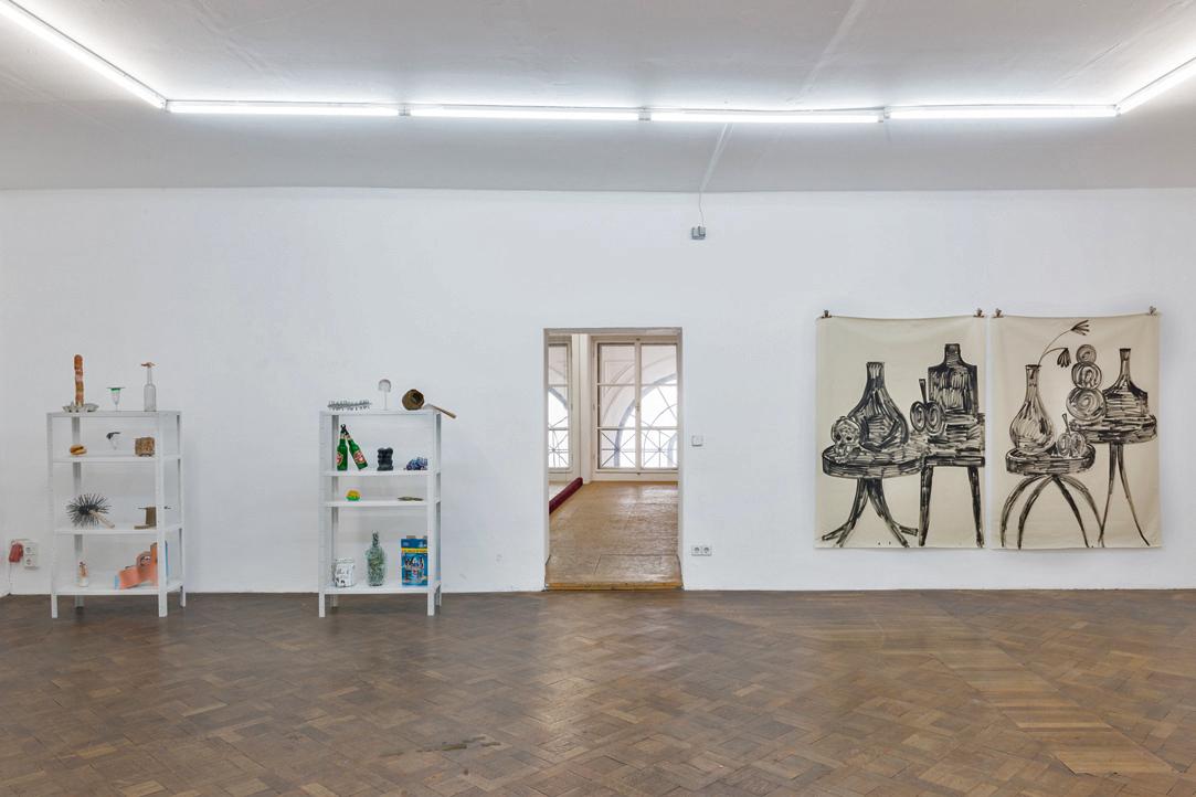 Ausstellungsansicht, SPEED, Christian Eisenberger / Rade Petrasevic, Büro Weltausstellung, 2018