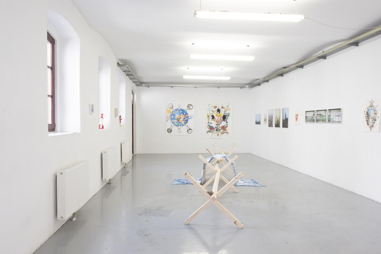 Installationsansicht, TRANSITUS IMMOBILIS, Kunstraum am Schauplatz, 2018