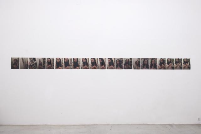 "Ausstellungsansicht, Intersections #1, Sanja Velickovic ""Plasticface"", Galerie Kunstbüro, 2018, Foto: Corinne Rusch"
