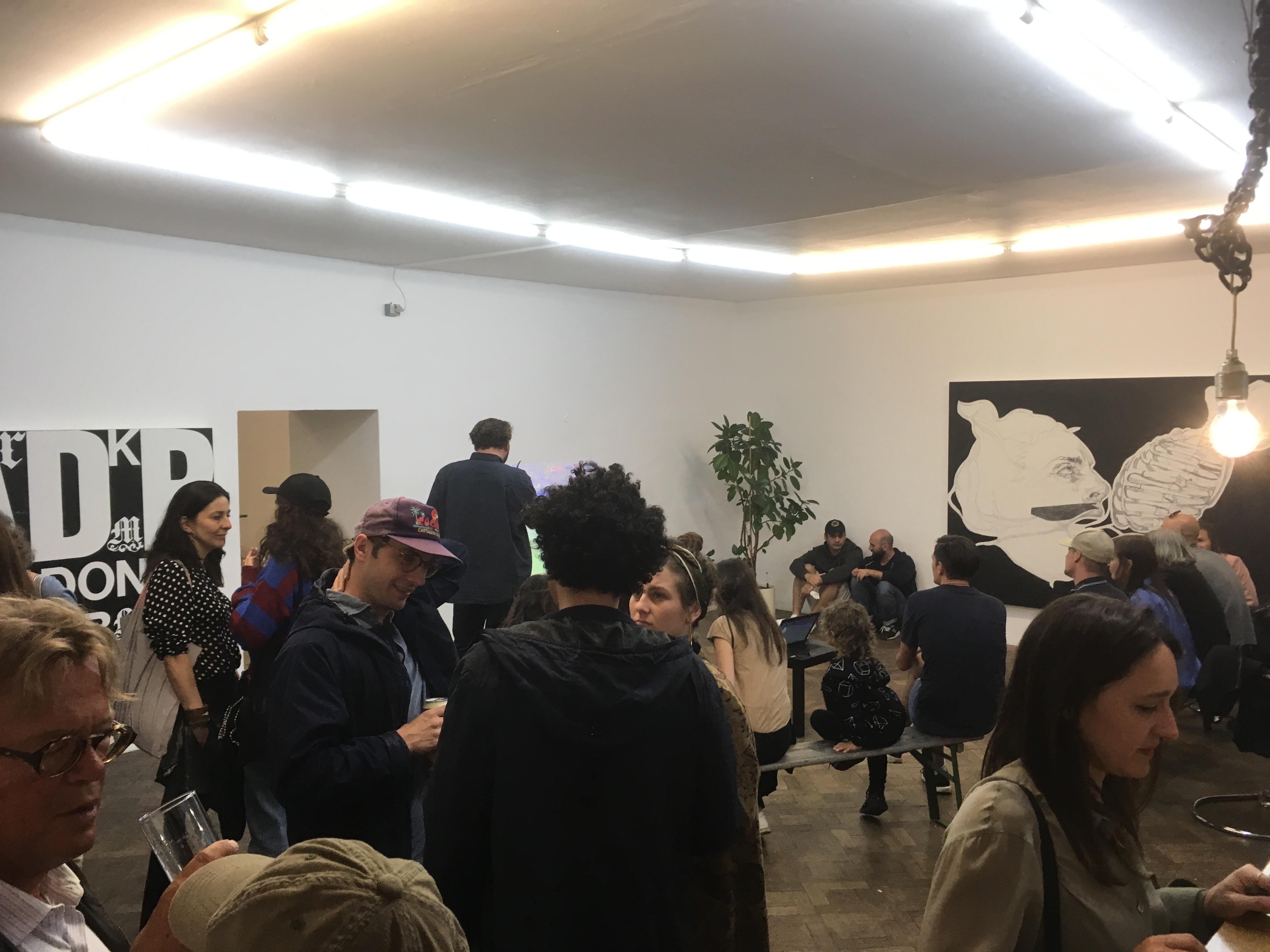 Eröffnung Ausstellung Franz Graf, Büro Weltaussstellung, 2018, Handyfoto: S.Geiger