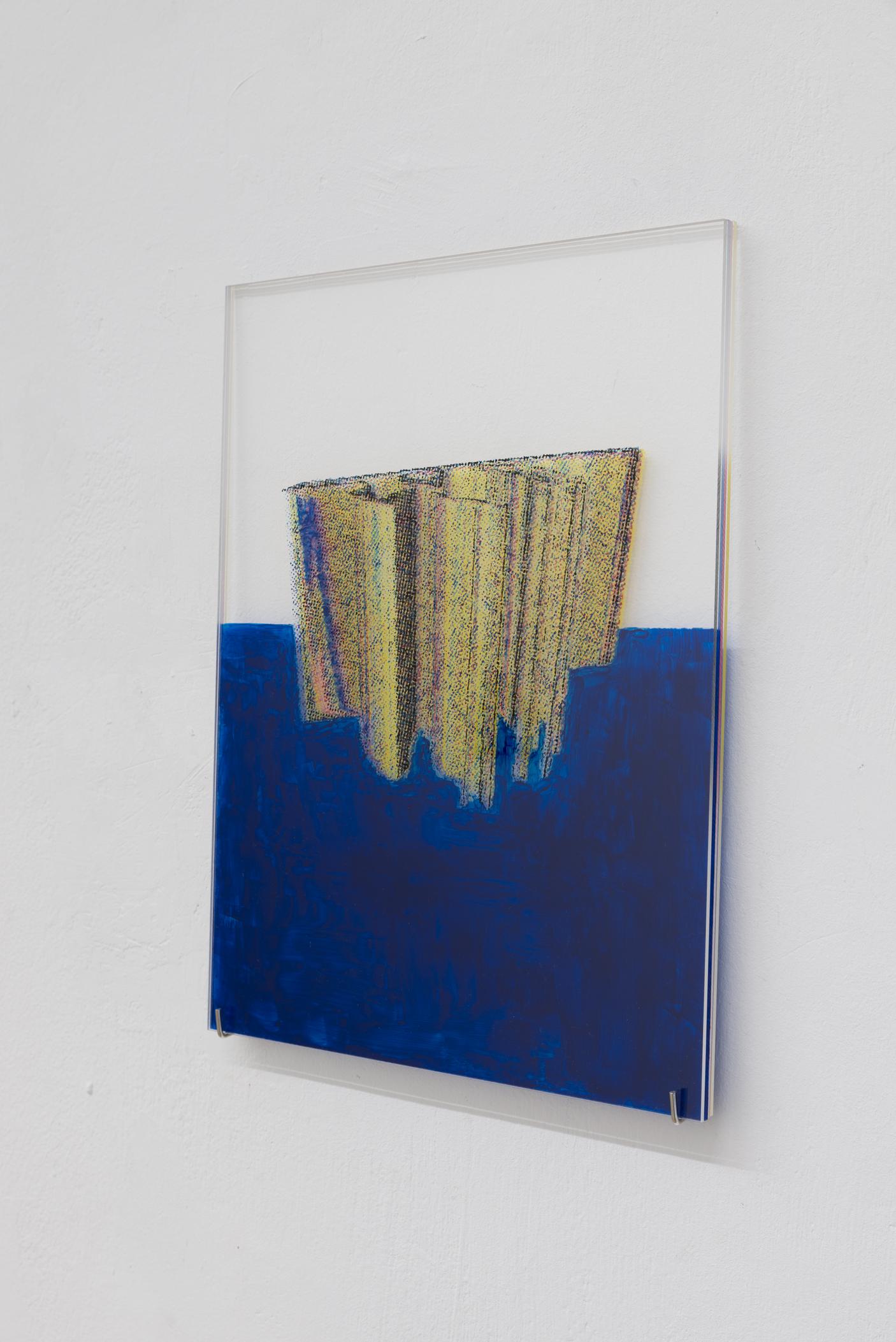 Yuki Higashino , The Dying Style: Model 3, Acrylic paint on Plexiglas, 2018