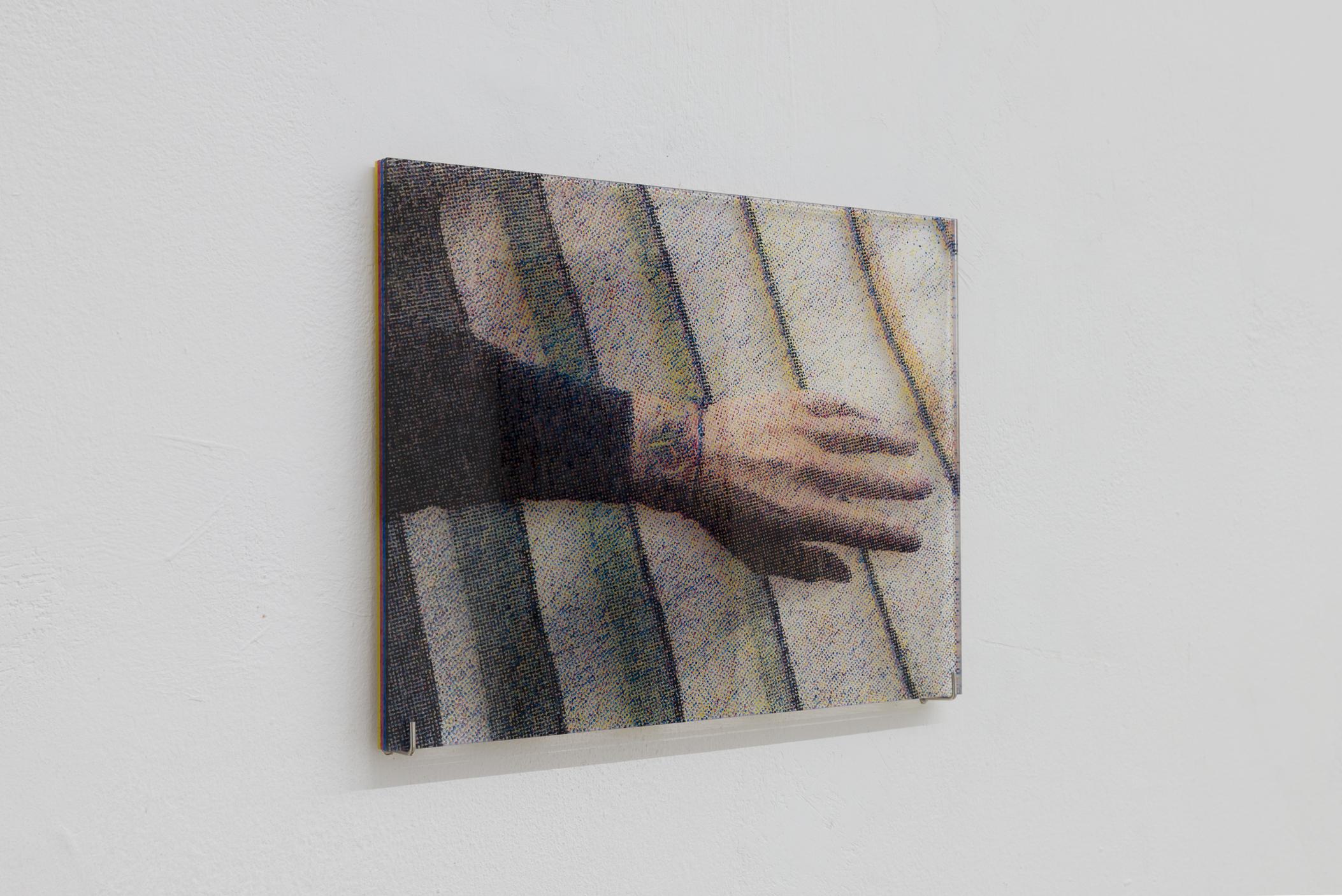 Yuki Higashino, Portrait of Luca Frei, Acrylic paint on Plexiglas, 2016