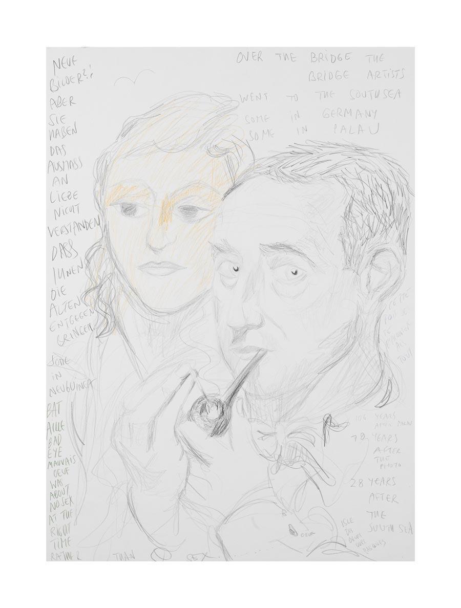 """""""Neue Bilder?! (Max Pechstein)"""", 2009, 70x50cm, colored pencil on paper"""