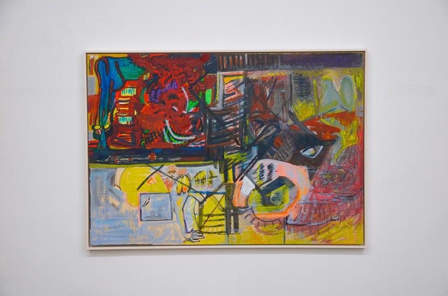 """Olivia Kaiser, """"O.T (Das Gesicht)"""", 2014, 70 × 100 cm"""