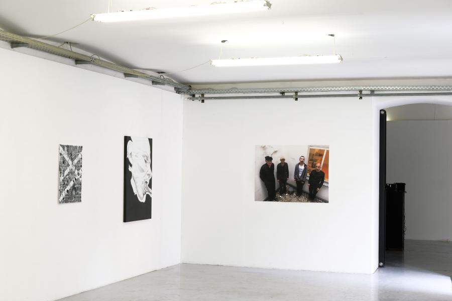 Installationsansicht: Christian Eisenberger / Franz Graf / Tunity Collective Dima Dadiani, Foto: Corinne Rusch