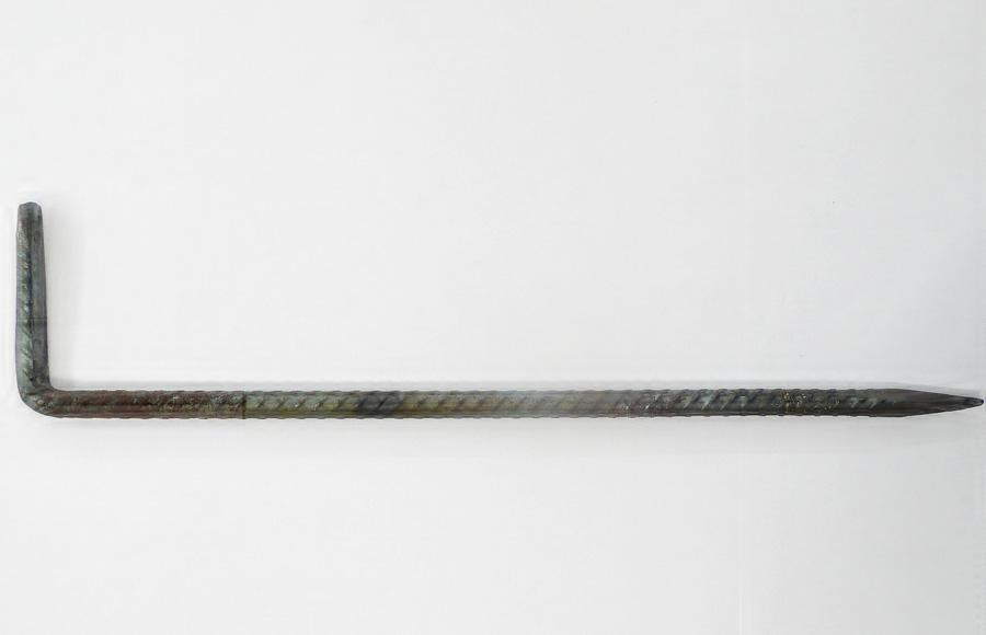 "Franz West, ""Quasimodo"", 2010, Detailansicht: Eisenhaken geschmiedet"
