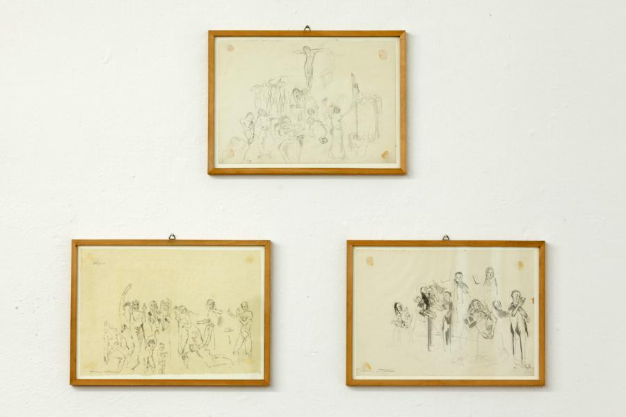 Figurenstudien, Bleistift auf Papier, 1956–1958