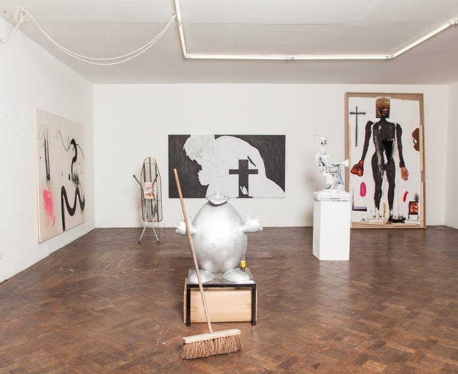 The Katharsis-Show, Installationsansicht Büro Weltausstellung 2015/16.