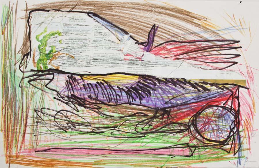 """""""Sealine"""", 2014, 42x29,5cm, clour pencil & Marker on paper"""