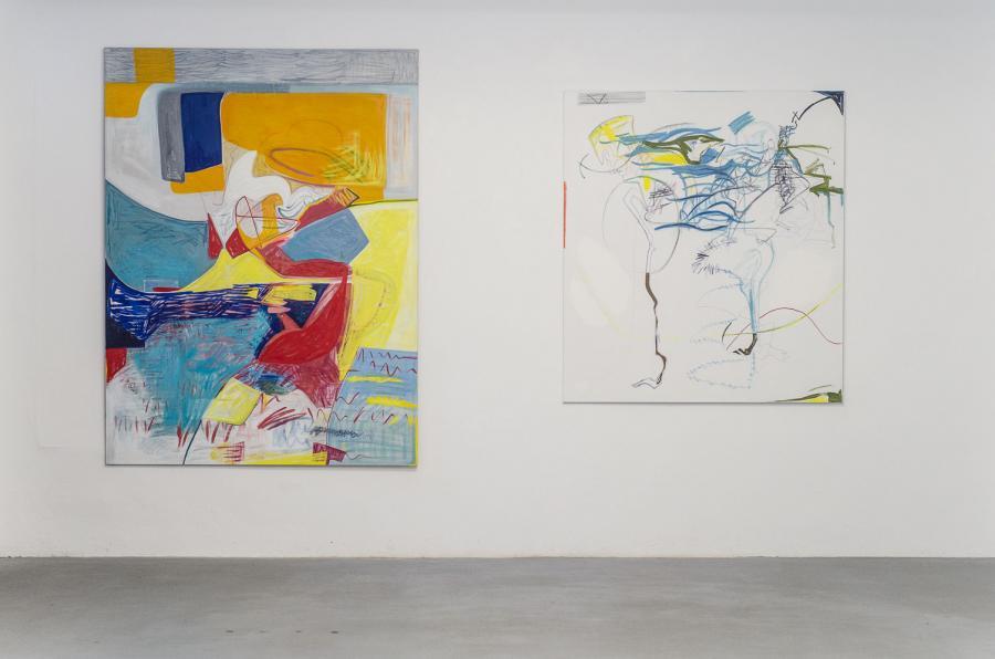 Olivia Kaiser, Katherina Olschbaur, Installationsansicht Kunstraum am Schauplatz, 2015