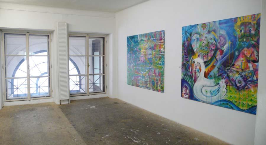 Peter Pagac, Installationsansicht Büro Weltausstellung