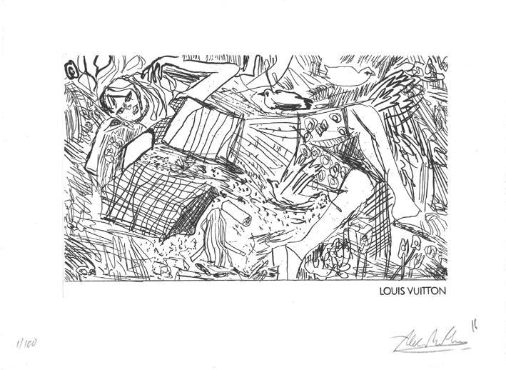 Etching ALEX RUTHNER, hand¬ma¬de deck¬le-ed¬ged pa¬per 350 g, 20,6 x 29,5 cm