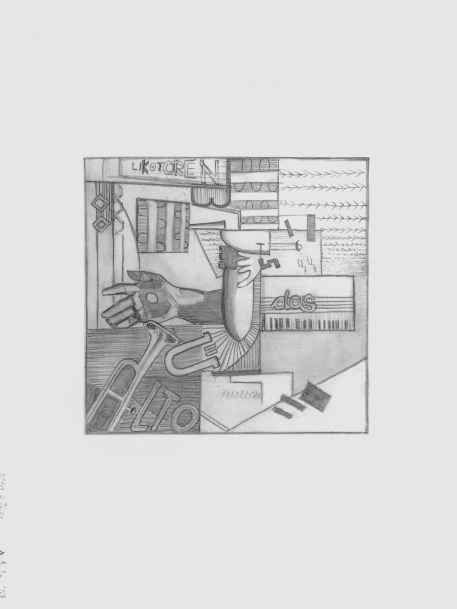 NORBERT BRUNNER LIENZ Alto Adige Bleistift auf Papier 39 x 29 cm 2007