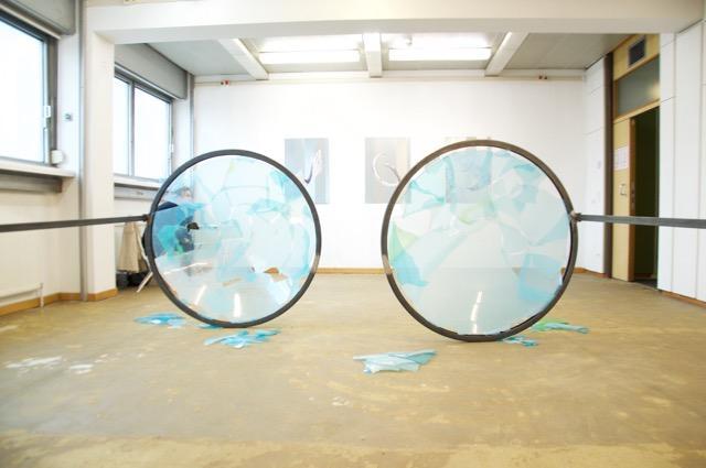 Installationsansicht, Ausstellung LUIZA MARGAN, galerie kunstbuero @Parallel Vienna 2017