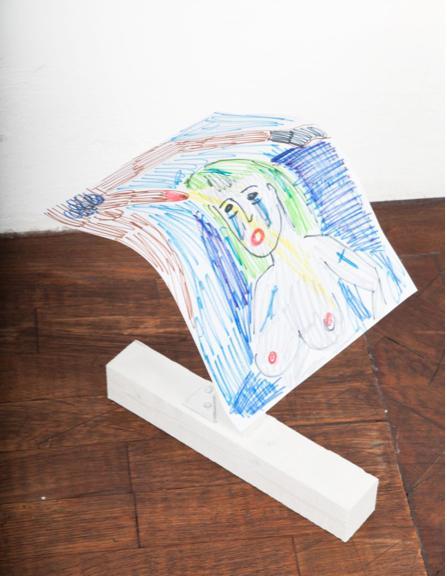 Rade Petrasevic, Edition (1), Unikat, 85 cm, Zeichnung auf Holzkonstruktion, 2015, € 550,-