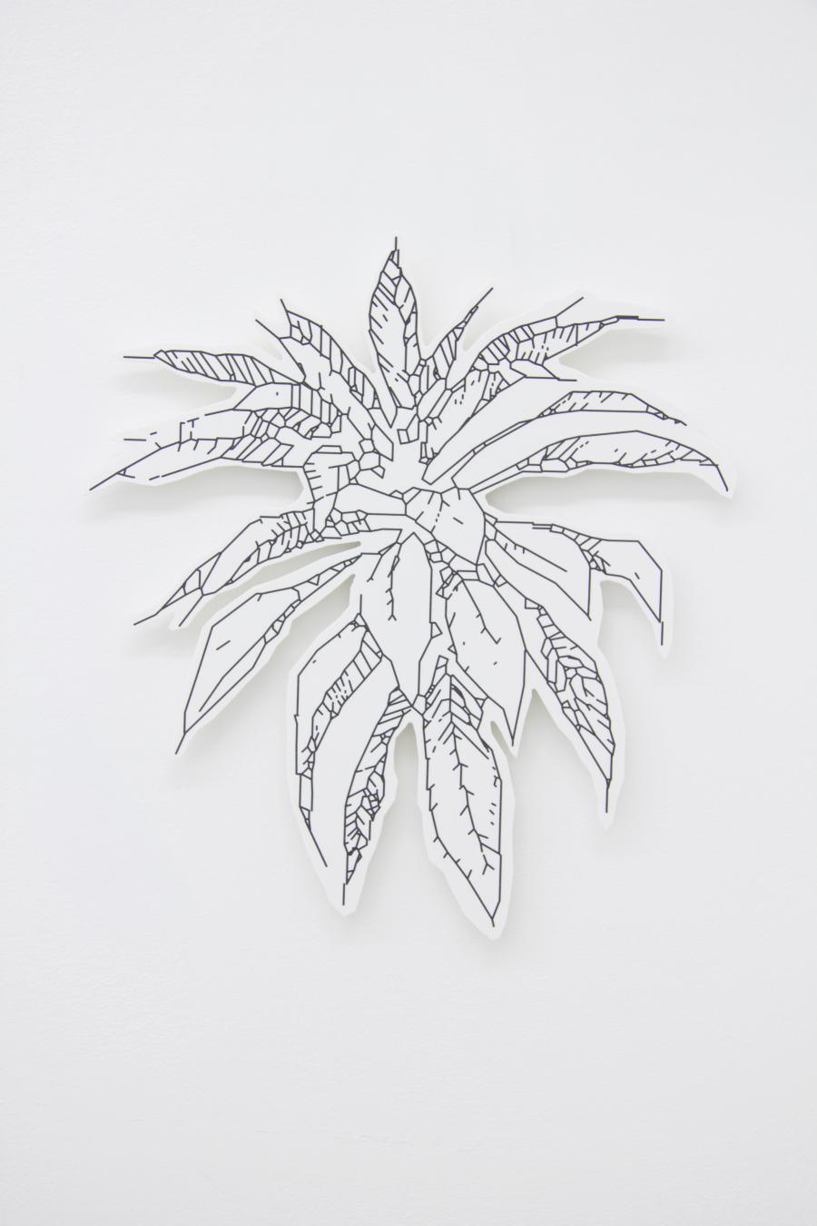 Richard Nikl, Plant 1:1, UV-print on PVC, 39 x 42 cm, 2015