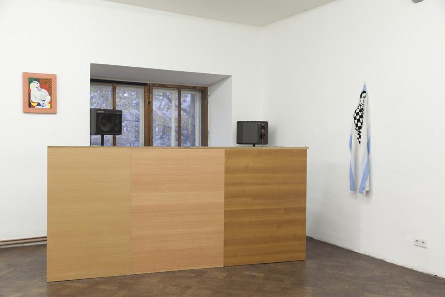Marcus Geiger, Installationsansicht Büro Weltausstellung, Foto © Björn Segschneider