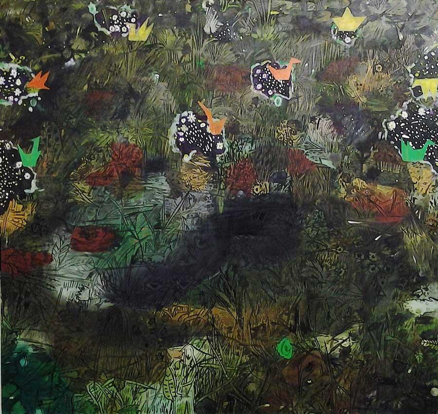 "Alexander Ruthner, ""Papillon"", 185 x 190 cm, Öl auf Leinwand, 2013"