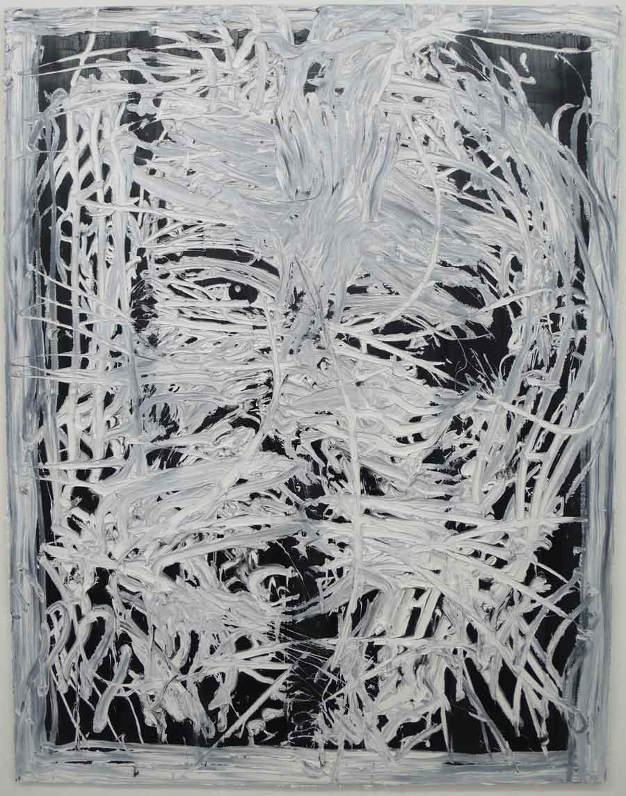 "Michi Lukas, aus der Serie ""too big to fail"": ""o.T. 3"", 120 x 155 cm, Öl auf Leinwand, 2013"