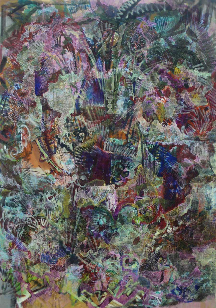 """Matthias Buch, """"o.T."""", 135 x 185 cm, Öl auf Leinwand, 2012"""