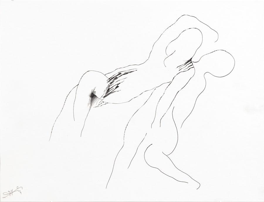 """""""NOCH NICHT"""", 1994, 42 x 55 cm, Bleistift auf Papier"""